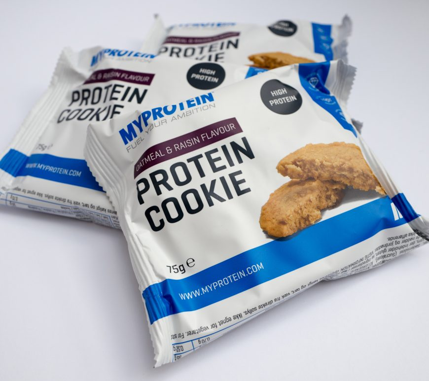 My Protein cookie packs