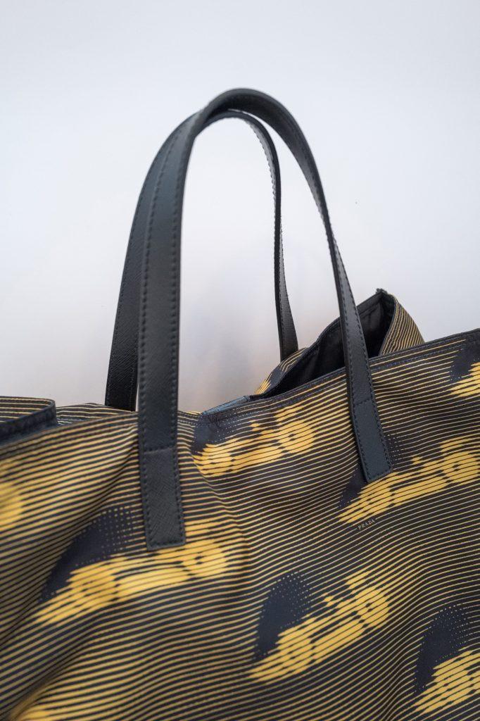 Prada cars tote bag leather handle