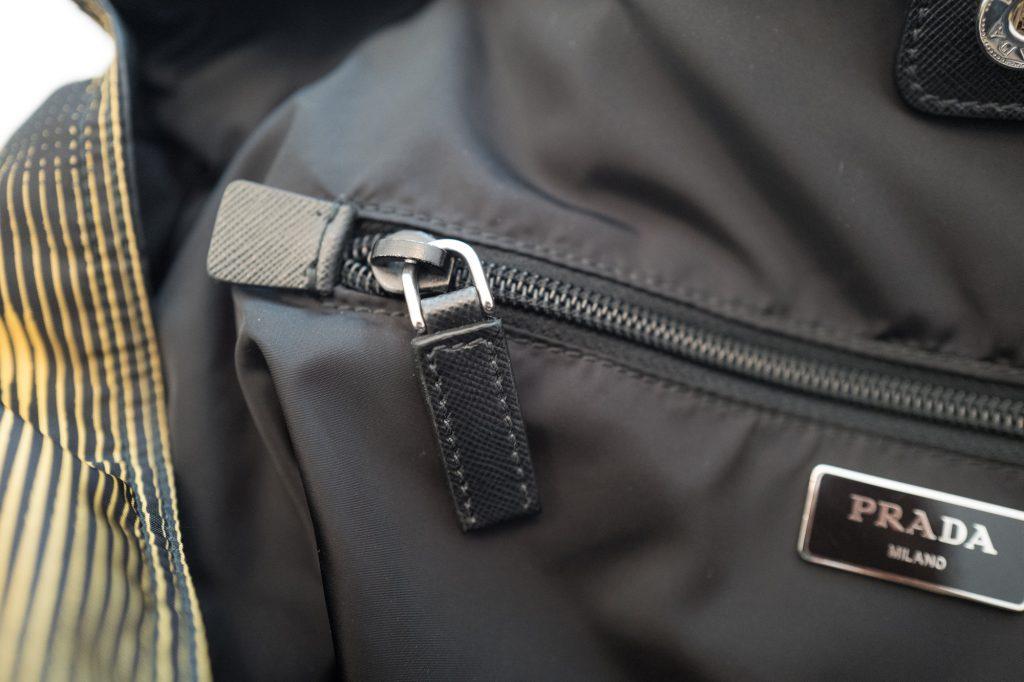 Zip inside tote bag