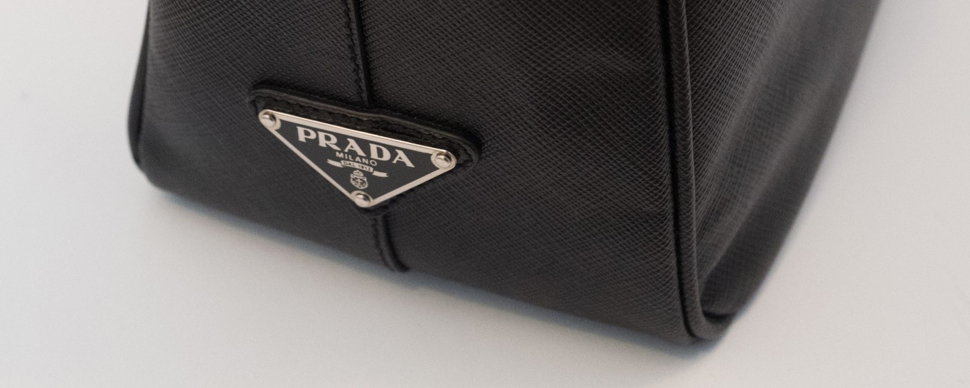 9710a67fede4 Prada black leather briefcase – Retro Gym Geek
