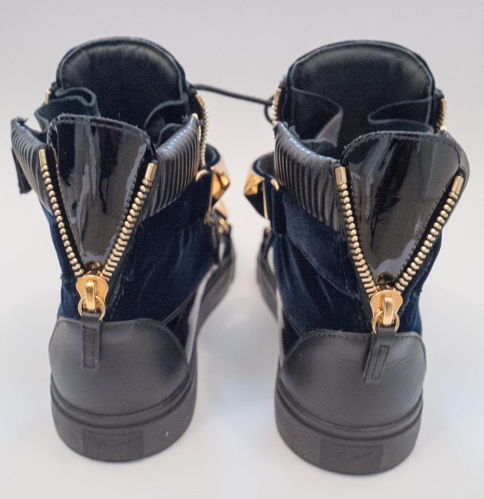 Giuseppe Zanotti - Blue & gold hightop trainers