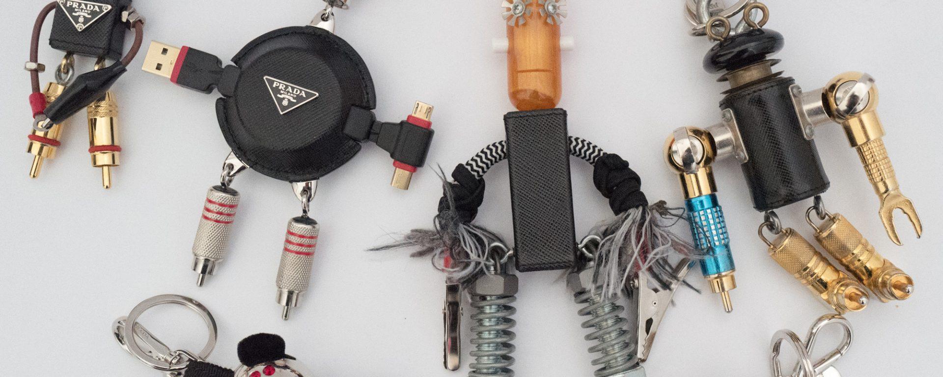 Prada Robin Robot Trick Key Chain nDMIW