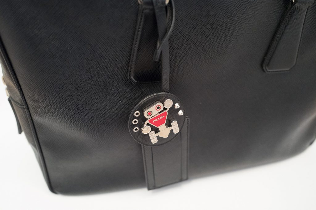 Prada robot - Badge on bag