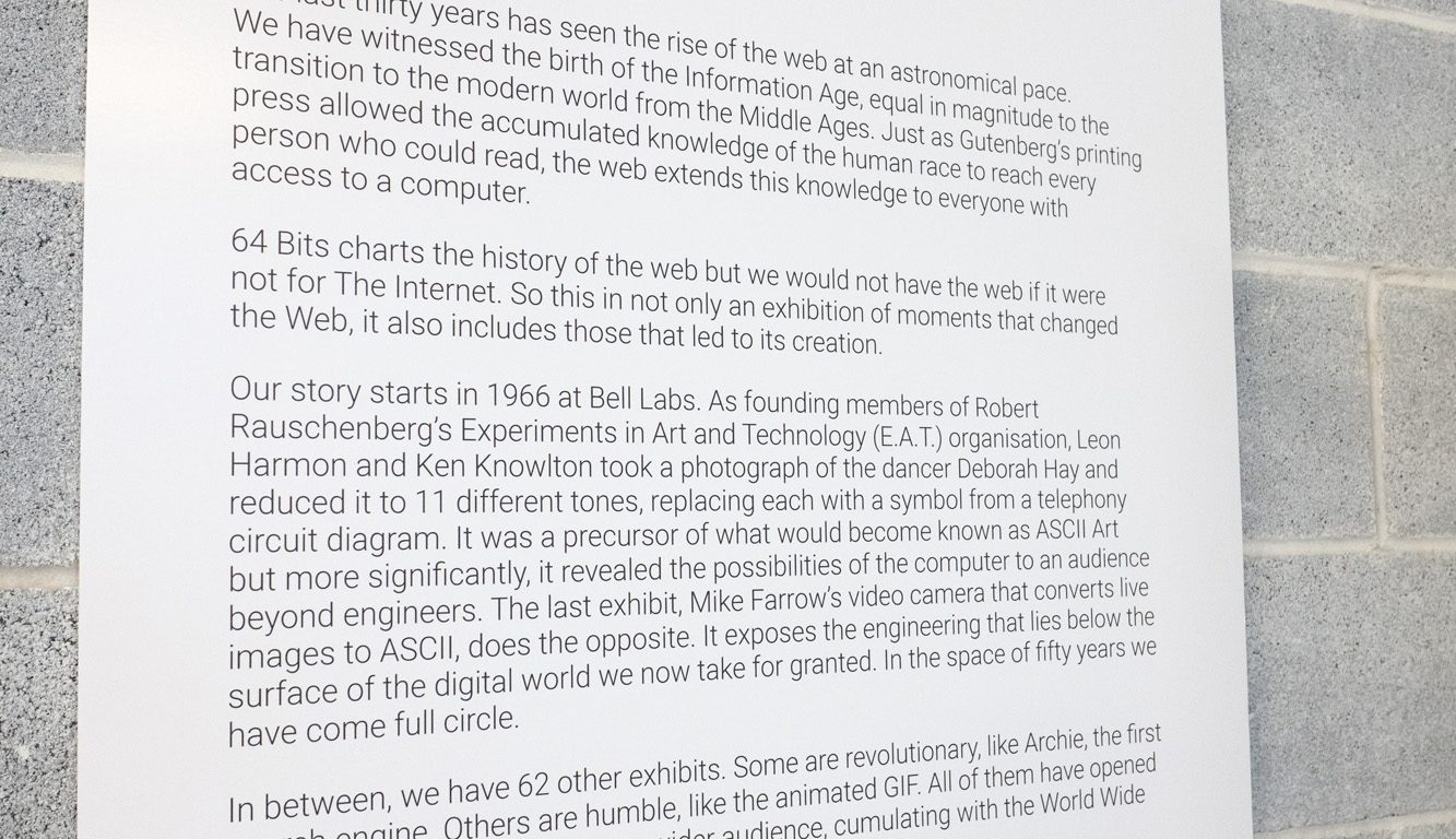 64 Bits - An Exhibition of the webs lost past