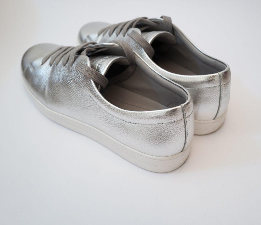 Prada silver mens trainers