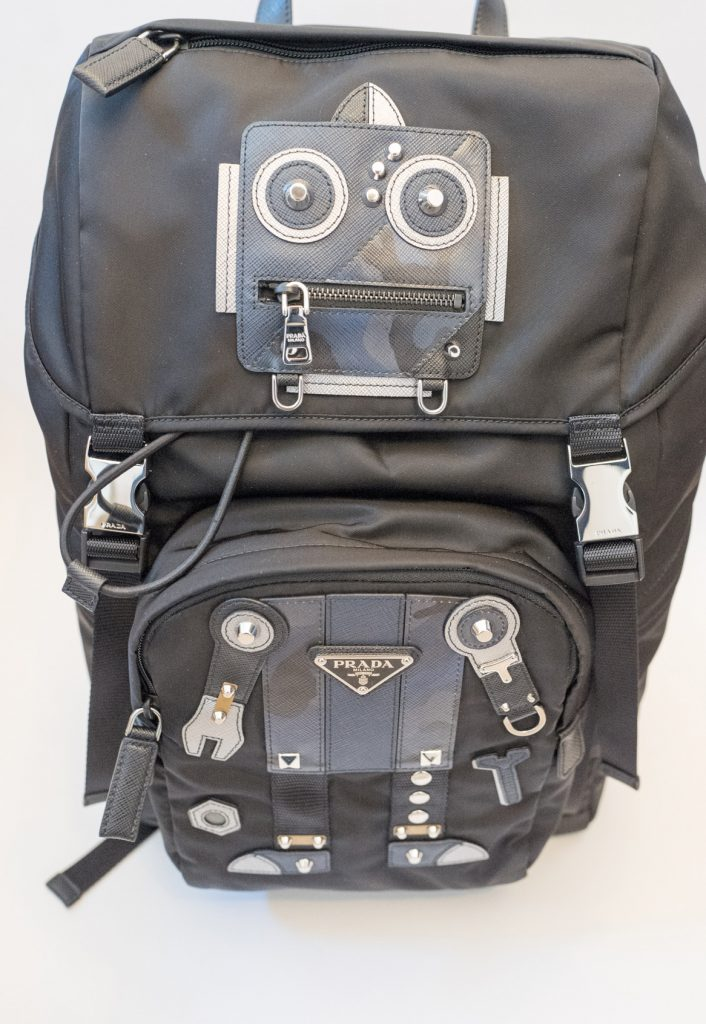 Prada robot nylon and Saffiano leather backpack
